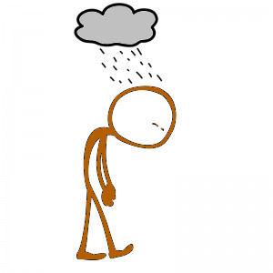 Afbeeldingsresultaat voor depressief cartoon